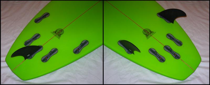 Centreline Fins (L) and Rail Fins (R)