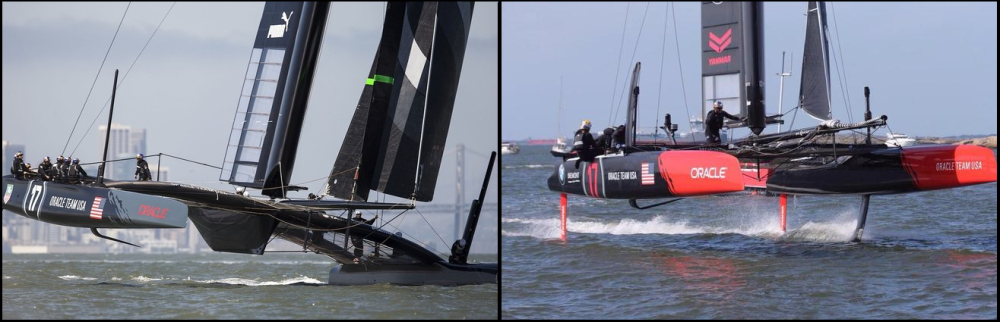 Team Oracle upwind leg (L) and downwind leg (R)
